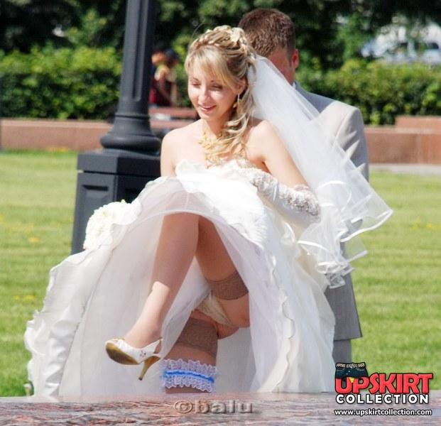 Message Bride and wedding upskirt photos